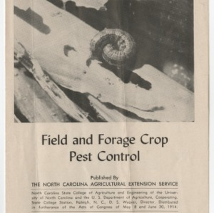 Field and Forage Crop Pest Control 1955