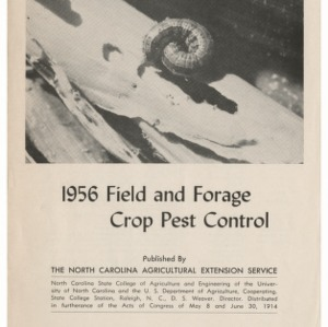 Field and Forage Crop Pest Control 1956