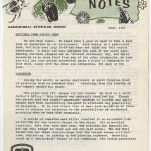 Pesticide Notes June and November 1967