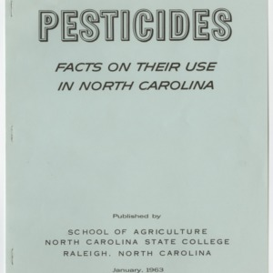 Pesticides: Facts on their Use in North Carolina 1963