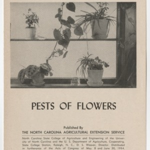 Pests of Flowers 1955