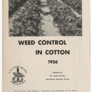 Weed Control in Cotton 1956