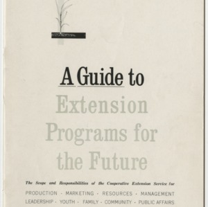 A Guide to Extension Programs for the Future