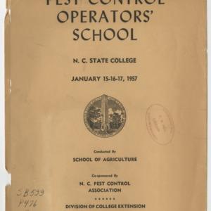 Pest Control Operator's School Jan. 1957