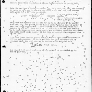 Correspondence on Theoretical Calculation of Fission Product Activity in Reactor Fuel, November 2, 1955