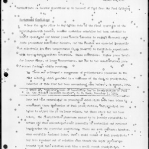 Further Data on Reactor Operations up to Removal of Fuel from the Fuel Cylinder, August 10, 1955