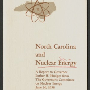 Department of Nuclear Engineering General Information, 1955 - 1969