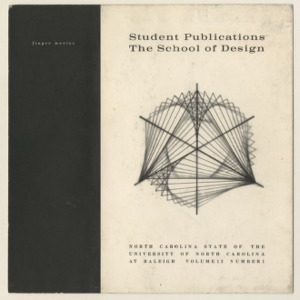 The Student Publication of the School of Design, North Carolina State College, Raleigh, North Carolina, Volume 12, Number 1