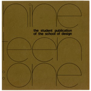 The Student Publication of the School of Design, Volume 19:1