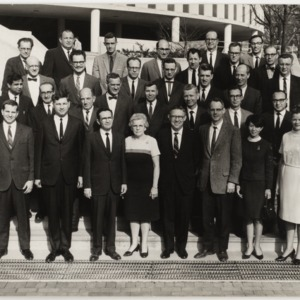 Group photograph, Raleigh section, Institute of Statistics, Circa 1965
