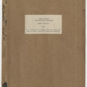 Annual Report Farm Forestry Extension North Carolina 1946
