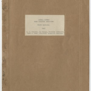 Annual Report Farm Forestry Extension North Carolina 1947
