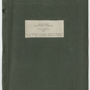 Annual Report Farm Forestry Extension North Carolina 1948