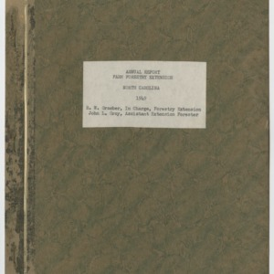 Annual Report Farm Forestry Extension North Carolina 1949