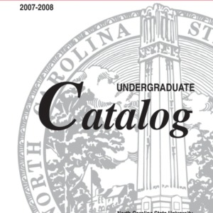 North Carolina State University Undergraduate Catalog, 2007-2008