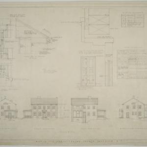 Davidson College Presbyterian Church Manse -- Elevations, interior details