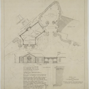 Elevation and site plan
