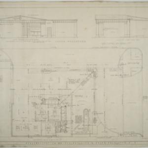 Elevation, site plan, floor plan