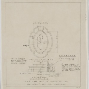 Plan of fountain