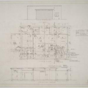 Elevation, floor plan