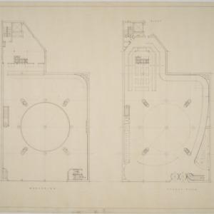 Mezzanine, street floor plans