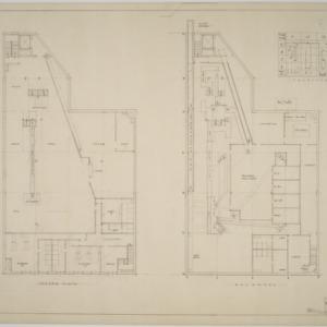 Basement, second floor plans