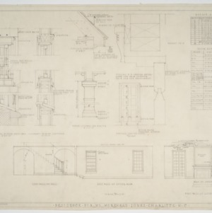 Window schedule, door schedule, various details