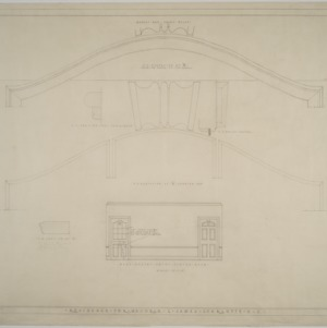 West elevation of dining room