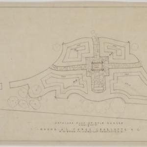 Detailed plan of bulb garden