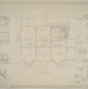 Basement plan, garage elevations