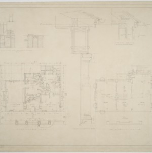 Basement, first floor plan