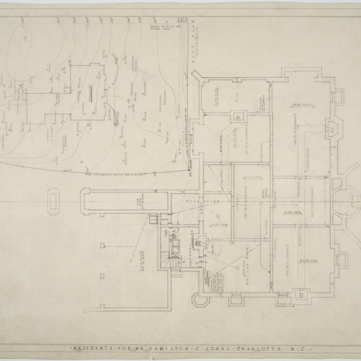 Basement plan, plot plan