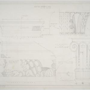 Pilaster details, mantel details