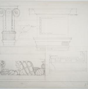 Pilaster details, cornice details