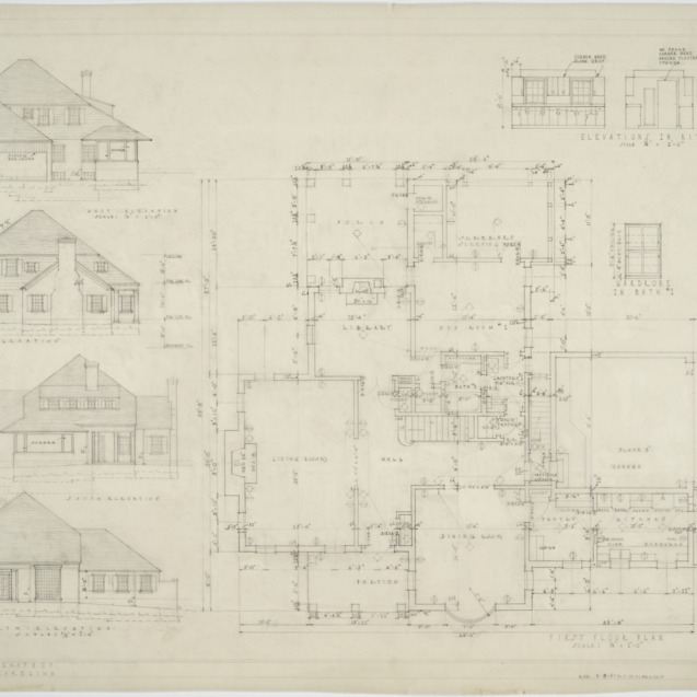 First floor plan, elevations