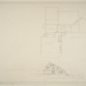 Basement plan, east elevation