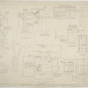 Basement plan, details of House No. 7