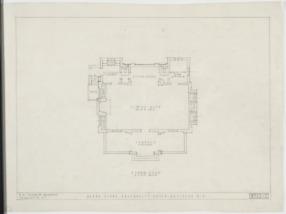 Floor plan, Kappa Alpha Fraternity House (Davidson College ...
