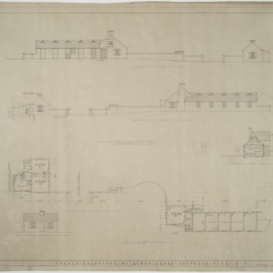 Elevations, sections, floor plans