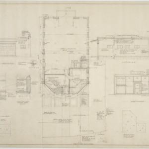 Floor plan, elevations, section