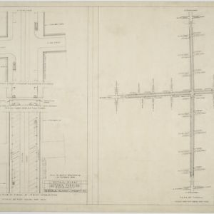 Detail plans, plans of tunnels