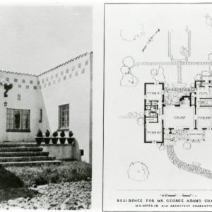 George Adams House - Side and Floor Plan