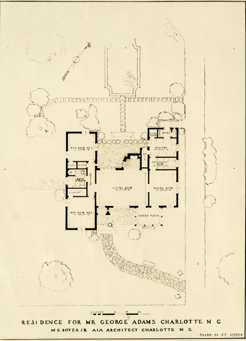 George adams house plan george adams house charlotte for Addams family house floor plan