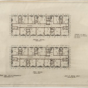 Third floor plan, fourth floor plan