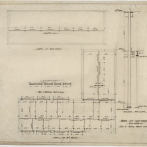 Second and third floor framing plans