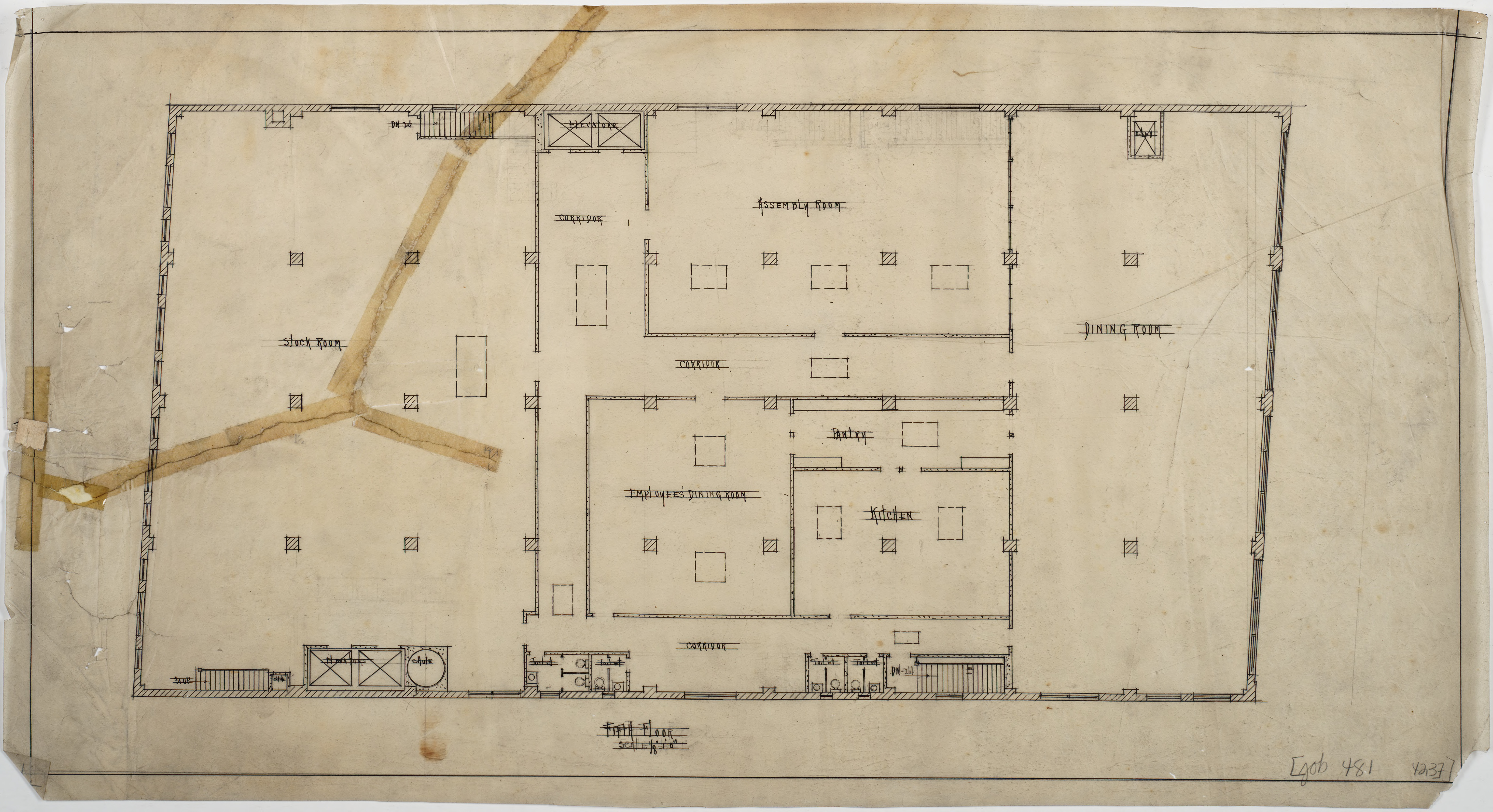 Fifth Floor Plan (Efird's Department Store (Charlotte, N.C