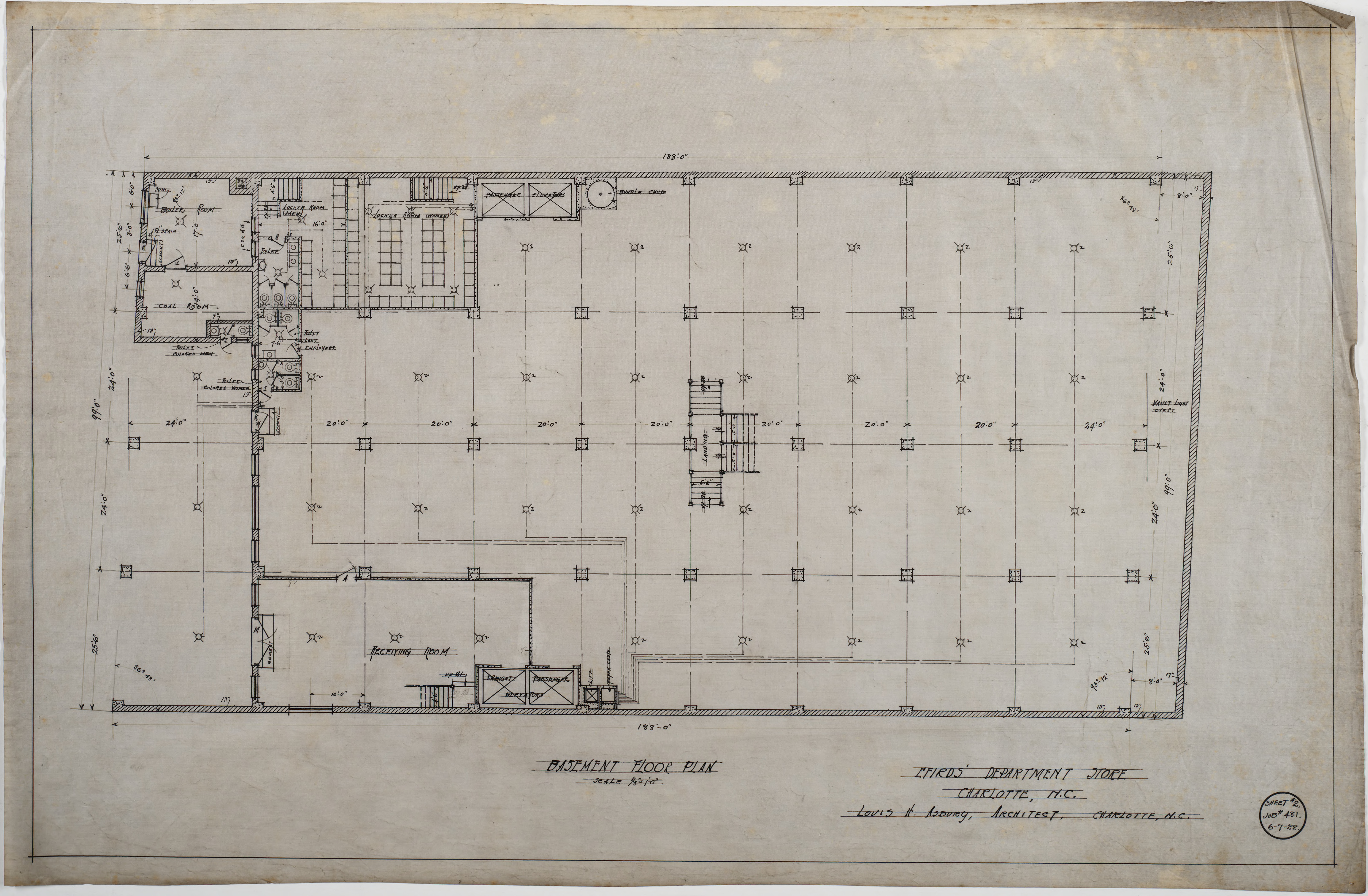 Basement Floor Plan (Efird's Department Store (Charlotte