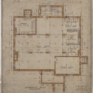 Basement plan, cottage