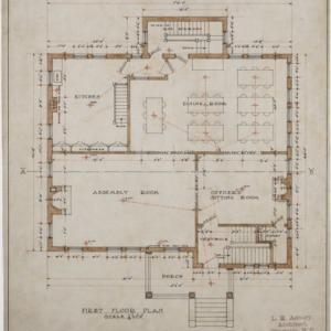 First floor plan, cottage