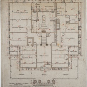 First floor plan, Administration Building